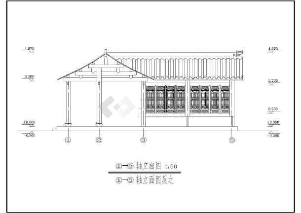 该为某地多套单层古建筑设计施工图,内容包含,表,底层平面图,屋顶平面