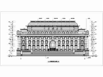某地6层框架结构海关办公楼部分建筑施工图