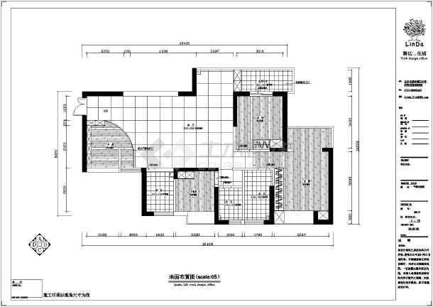 某地三室二厅房屋精品家装设计施工图纸