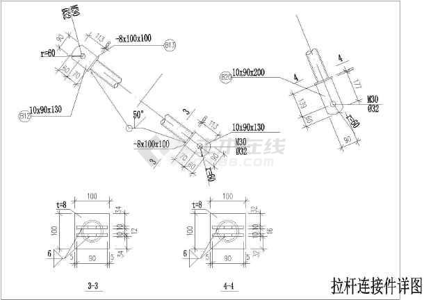 某地单榀框架钢结构车棚结构施工图纸