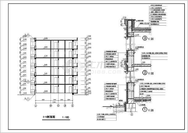 北方某6层砖混结构住宅建筑施工图