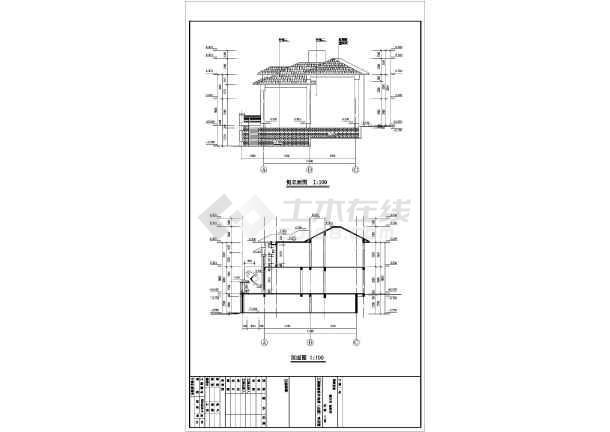 某地区2层两户型联排别墅建筑结构施工图