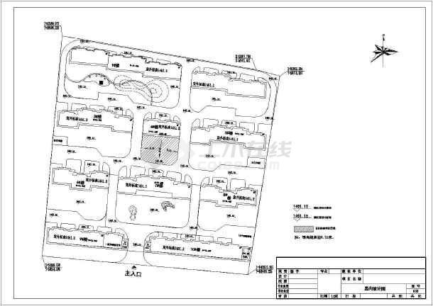 某廉租房小区绿化工程全套设计图纸