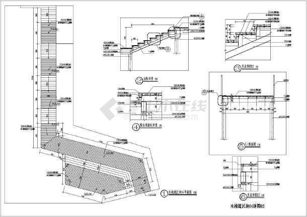 某钢结构木平台,栈道全套施工图纸