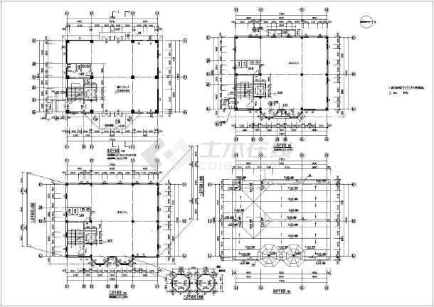 某地区三层欧式风格办公楼建筑设计施工图