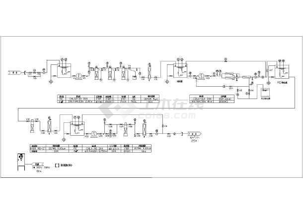 5m3/h视图图纸v视图工艺流程图_cad装置放大cad是什么纯水快捷键下载图片