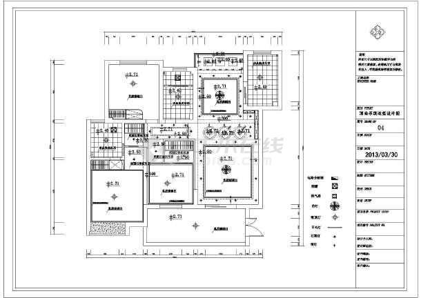 建筑室内装修施工图 室内全套施工图  所属分类:三室两厅装修图 家装
