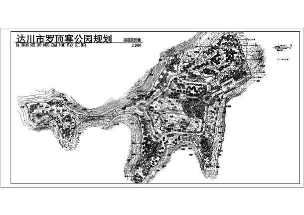 总规划平面图(种植设计图),全面的景观布置,各种名贵树木的分布种植