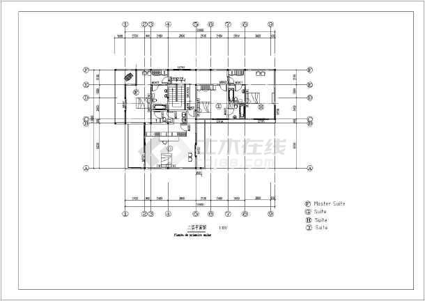 某地两层砖混结构别墅建筑设计扩初图