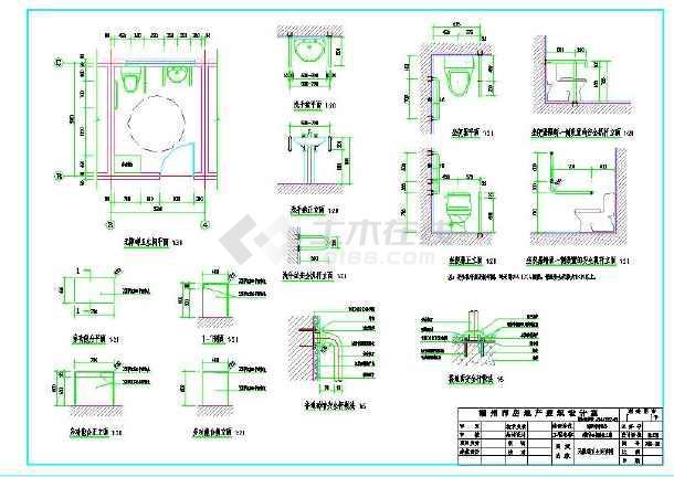 公厕建筑施工设计图(括号图、v公厕说明)_cad图cad大样画大怎么中图片