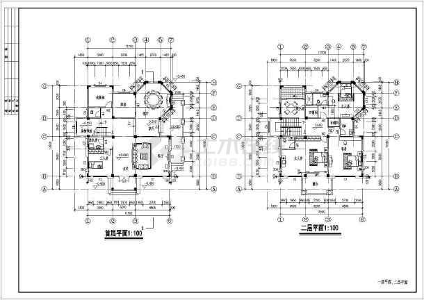 某大型欧式商业别墅建筑设计施工图