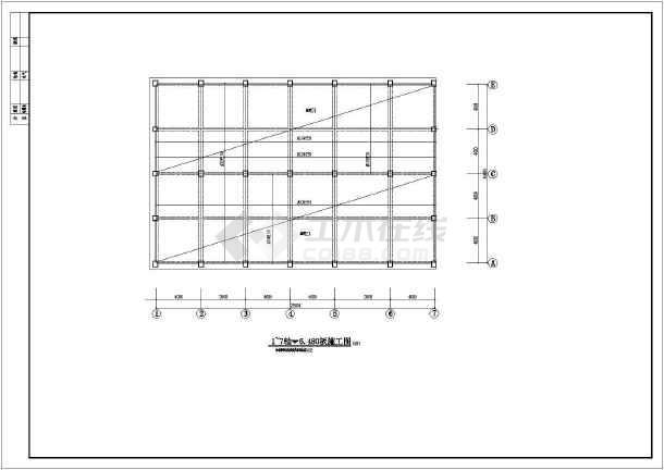 某框架结构2层柱下独立基础冰库设计图