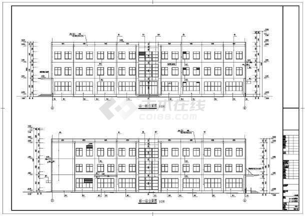 最新的6700平方米学校框架结构三层教师食堂全套建筑结构cad施工图_含楼梯设计_食堂设计cad_楼梯详图_餐厅设计cad-图1