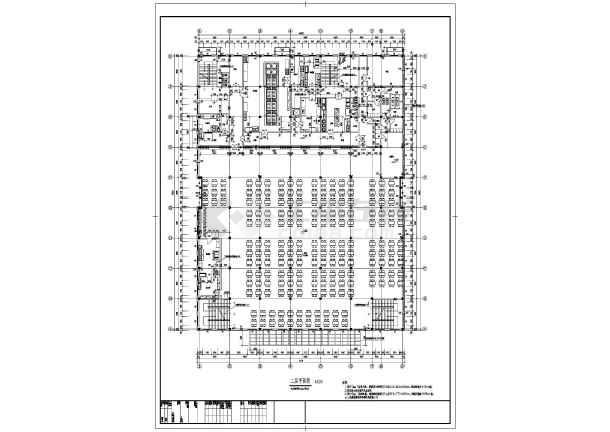 最新的6700平方米学校框架结构三层教师食堂全套建筑结构cad施工图_含楼梯设计_食堂设计cad_楼梯详图_餐厅设计cad-图3