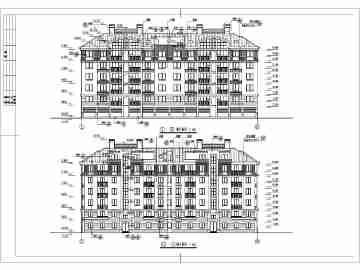 某六层带阁楼住宅建筑结构设计施工图