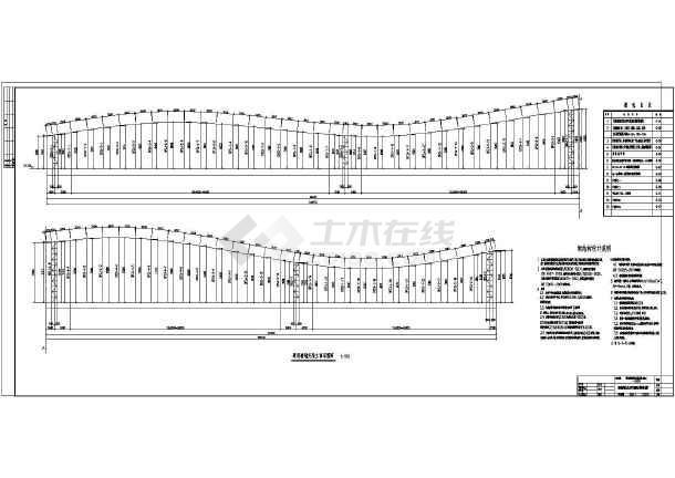 深圳某博览园广场景观墙钢结构设计施工图