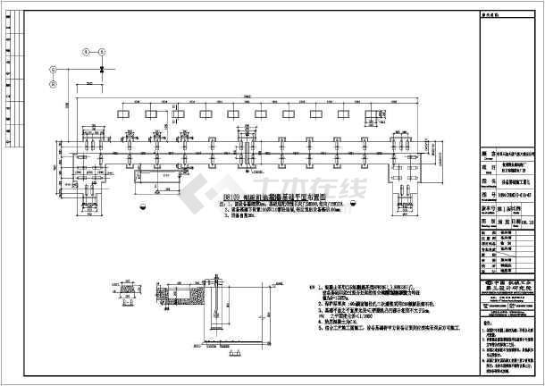 门式钢架厂房施工图门式钢架结构施工图门式钢架施工图设备基础施工图