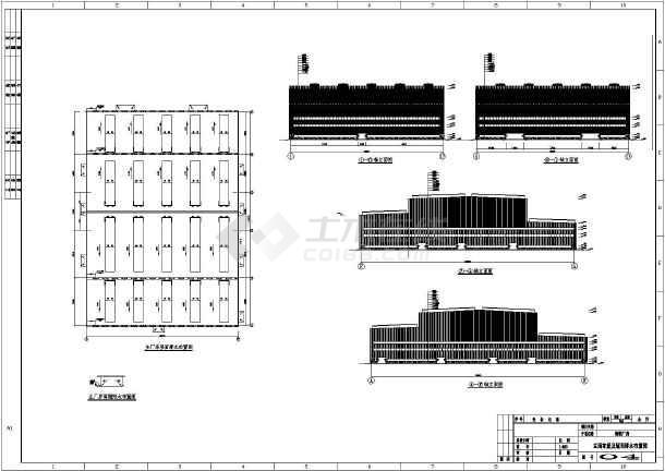 某风筝钢厂绘制二层建筑设计施工图_cad图纸厂房蝴蝶炼钢图片