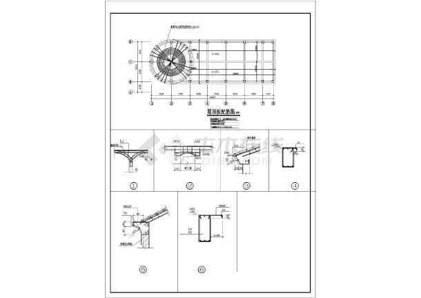 某地某框架结构西班牙风格售楼处设计施工图-图1