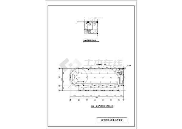某地某框架结构西班牙风格售楼处设计施工图-图2
