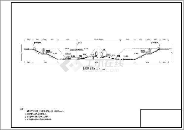 广州市区河道生态整治初步设计断面图