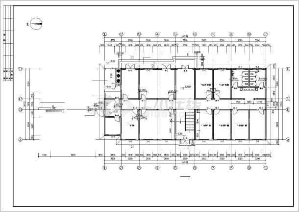 图纸包括:建筑设计说明,一层平面图,二层平面图,屋顶平面图,基础平面