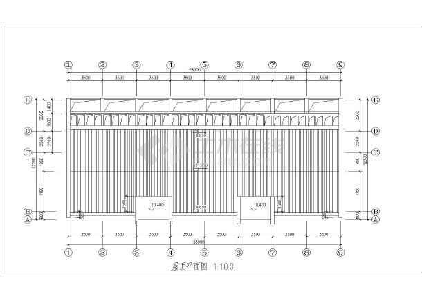 某农村三层连拼商住楼建筑设计方案图