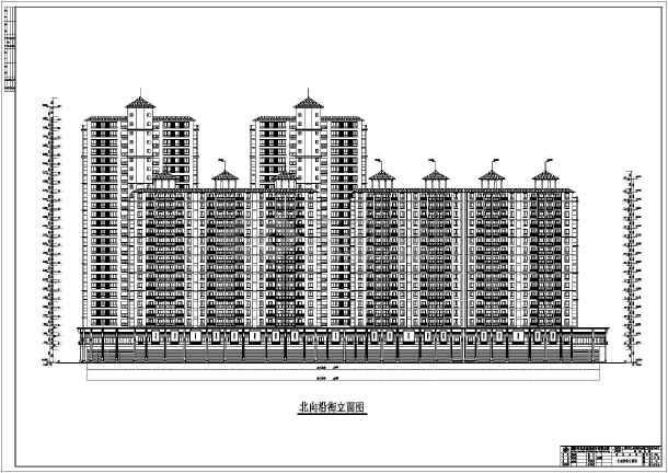 某城市高层沿街商住楼建筑设计方案图