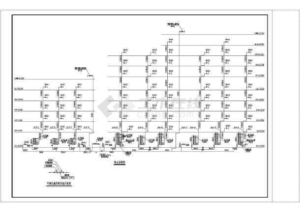 某小十层框架结构住宅楼给排水工程施工图