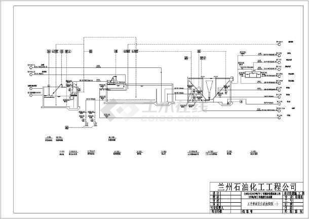 某地丁苯橡胶废水工艺管道及仪表流程图图片1