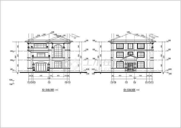 某小区3层坡屋顶别墅建筑设计方案