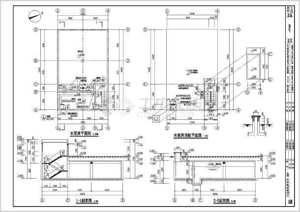 地下钢筋混凝土消防房屋建筑结构施工图_cad150水池平方米cad平面图图片