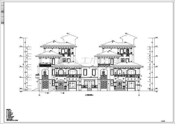 某地5层框架结构别墅建筑设计施工图
