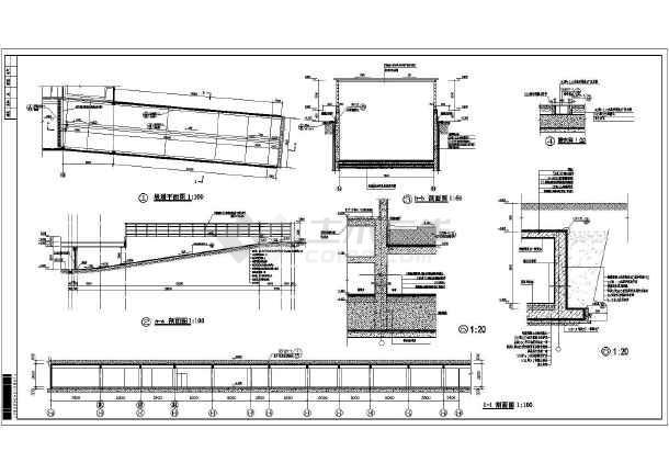 某地1层框架结构地下车库建筑专业设计施工图设计图片