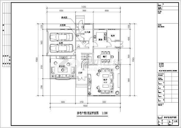 两套经典风格二层别墅户型设计图纸-图1