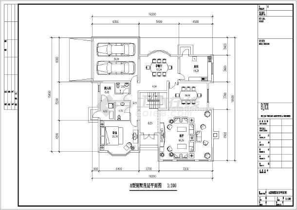 两套经典风格二层别墅户型设计图纸-图2