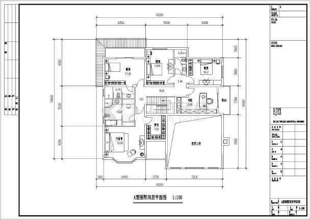 两套经典风格二层别墅户型设计图纸-图3