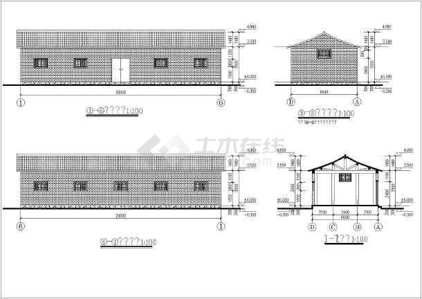 南方某地纯木结构建筑结构图-图3