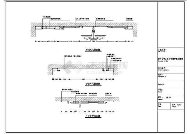欧式a样板三层样板别墅间精装修施工CAD图(附cad层图致命错误图片