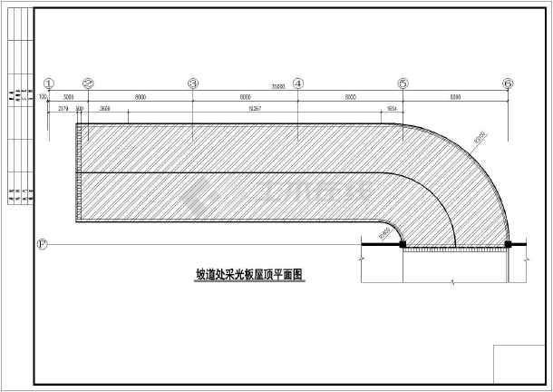 地下室多张天棚入口处钢结构汽车施工图_cadcad打印分如何坡道图片