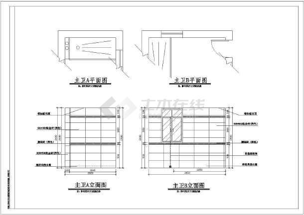 成都某地区阳光别墅方案设计cad图江南凯瑞建筑设计所图片