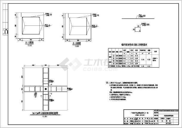 格构锚杆边坡支护设计图图片