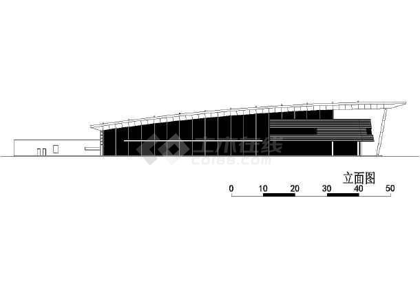 某二层汽车客运站建筑方案设计图,含效果图