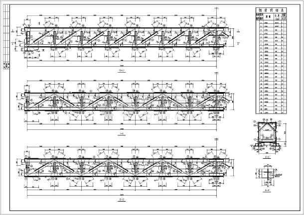 某地区21m跨街管道支架结构设计施工图图片1