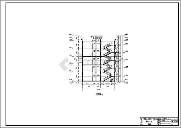 土木工程毕业设计 房屋建筑学课程设计 学生课程设计某五层框架结构