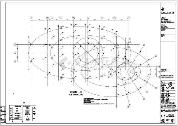 【框架结构施工图】某地世博会沙特馆钢框架结构施工