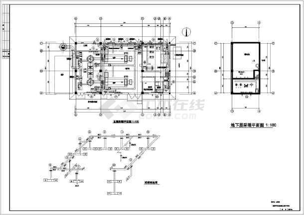 12吨燃煤直接承压式采暖锅炉房设计图纸图片
