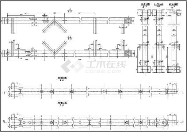 某项目贝雷梁桁架及桥座制作结构图-图3