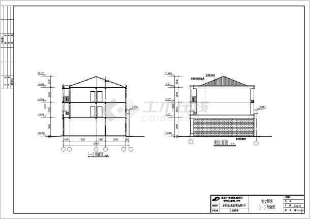 三层砖混结构沿街商住楼建筑设计方案图