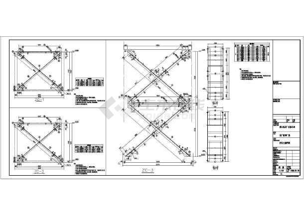 某地区21m预制桩排架结构设计施工图图纸